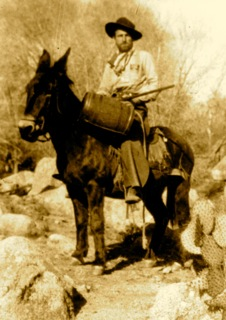 My father on a mule, Montana c. 1926