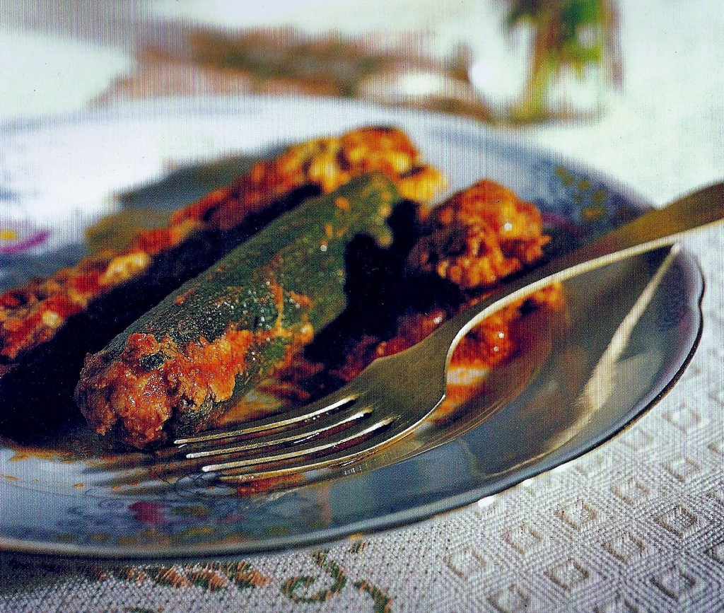 Roman Style Stuffed Zucchini, from Roma: Recipes from In and Around the Eternal City, by Julia della Croce (Chronicle Books). Photo: Paolo Destefanis