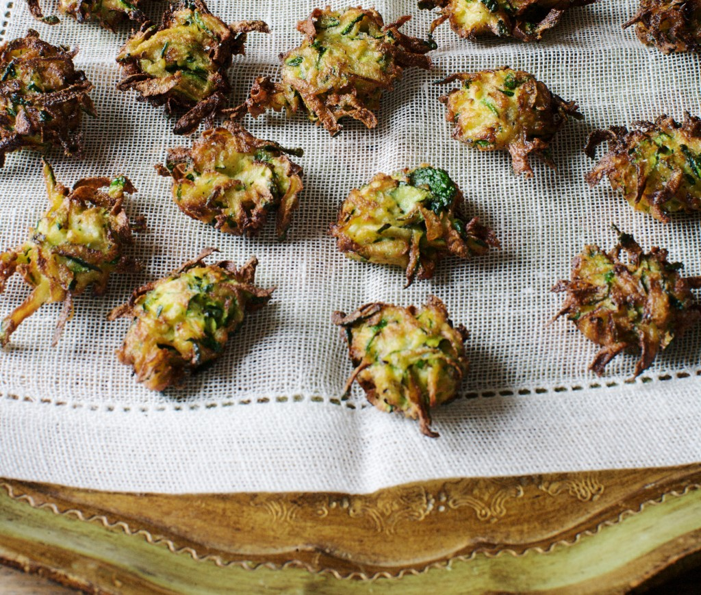 Frittelle di zucchine, Italy's gift to America, from Italian Home Cooking: 125 Recipes to Comfort Your Soul, by Julia della Croce.  Photo: Hirsheimer and Hamilton