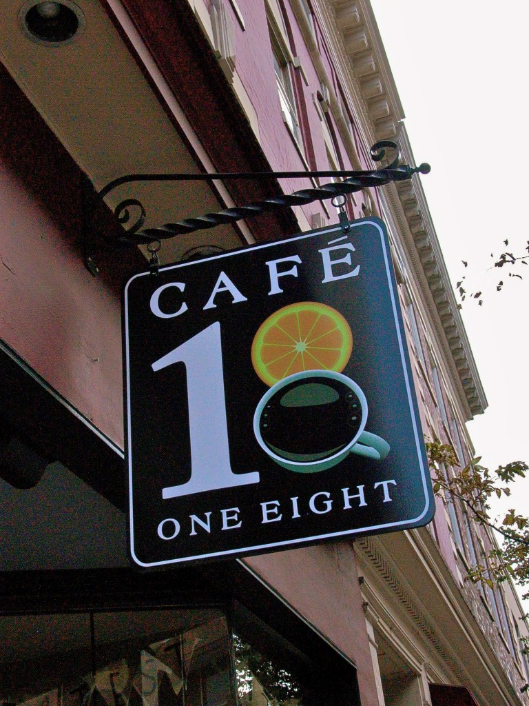 Cafe One Eight in the historic district has memorable coffee.  Photo: Nathan Hoyt