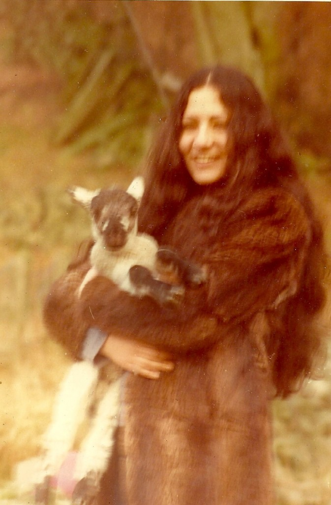 With baby lamb in Scotland.  Photo: Howard Davies