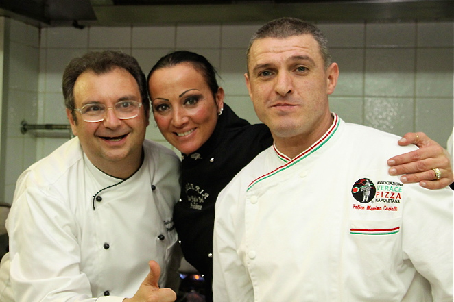 Ristorante President Chef-owner Paolo Gramaglia with his staff.Courtesy: Ristorante President