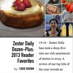"Julia's Stories Make 2013 Zester Daily Top Picks, Site for the ""Weird and Wonderful"" in Food and Drink"