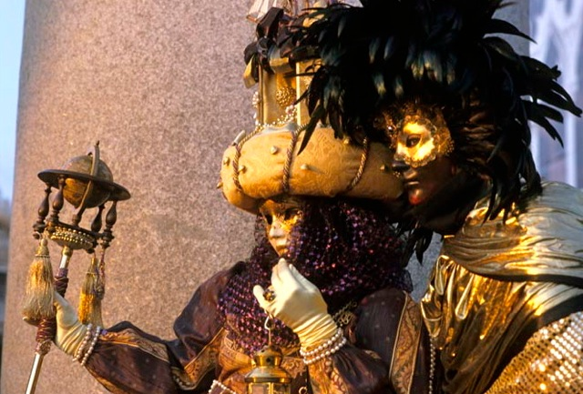 Venetian carnival masks originated during the plague. Photo: Paolo Destefanis for Veneto, by Julia della Croce (Chronicle Books)