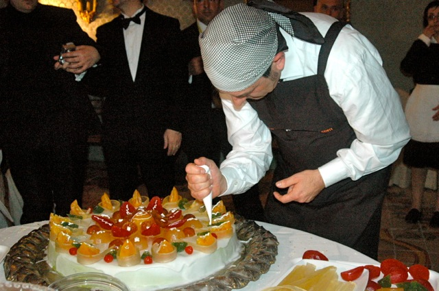 Master cassata maker demonstrating his art in Siracusa, Sicily at a ball for a delegation of Tony May'd Gruppo Ristoratori Italiani that I attended in 2009.