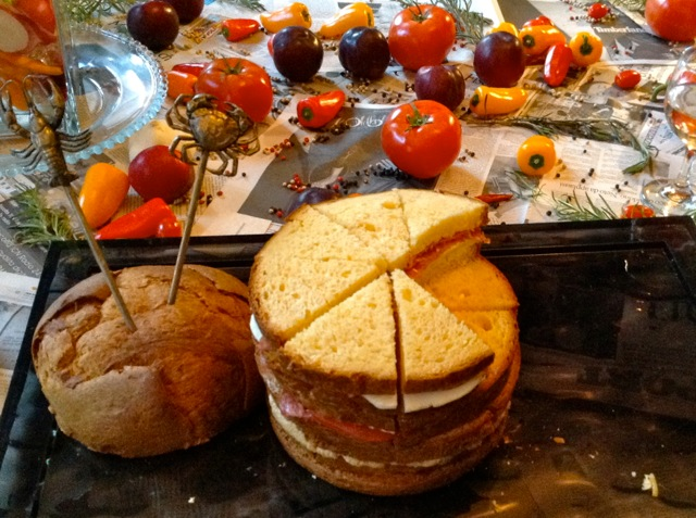 A savory version of the famous Milanese holiday cake. Photo: Julia della Croce
