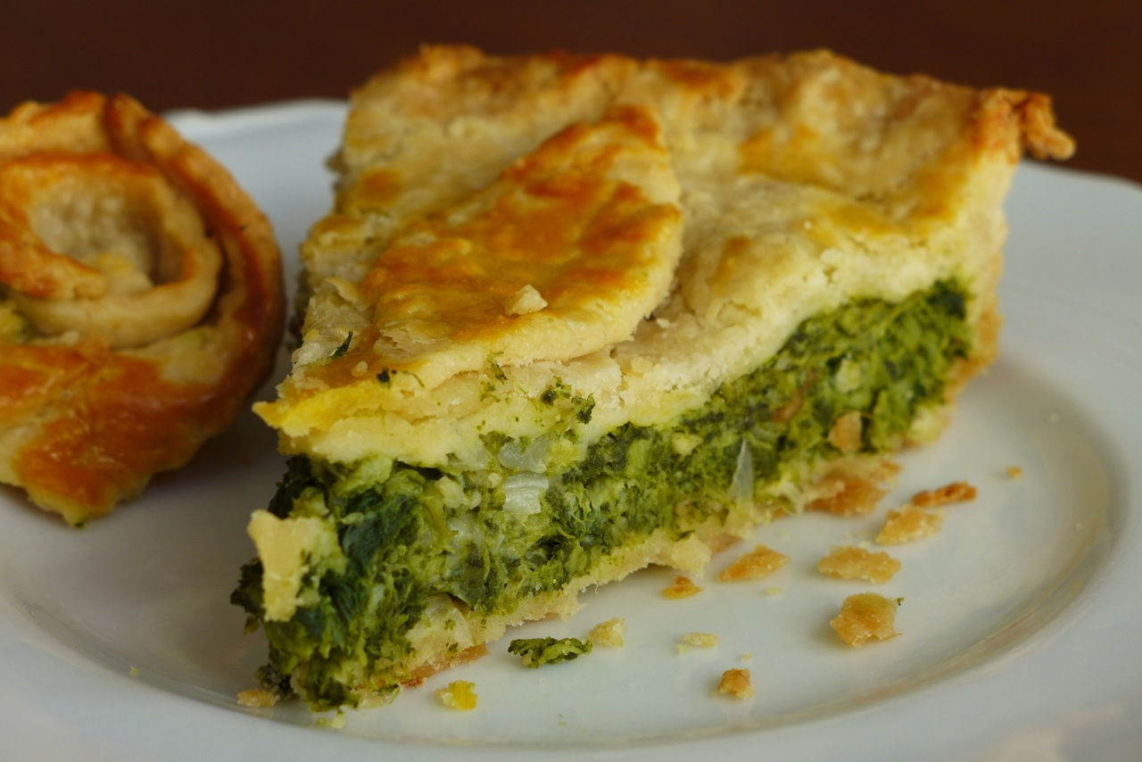 Slice of rapini pie. | Photo: Nathan Hoyt