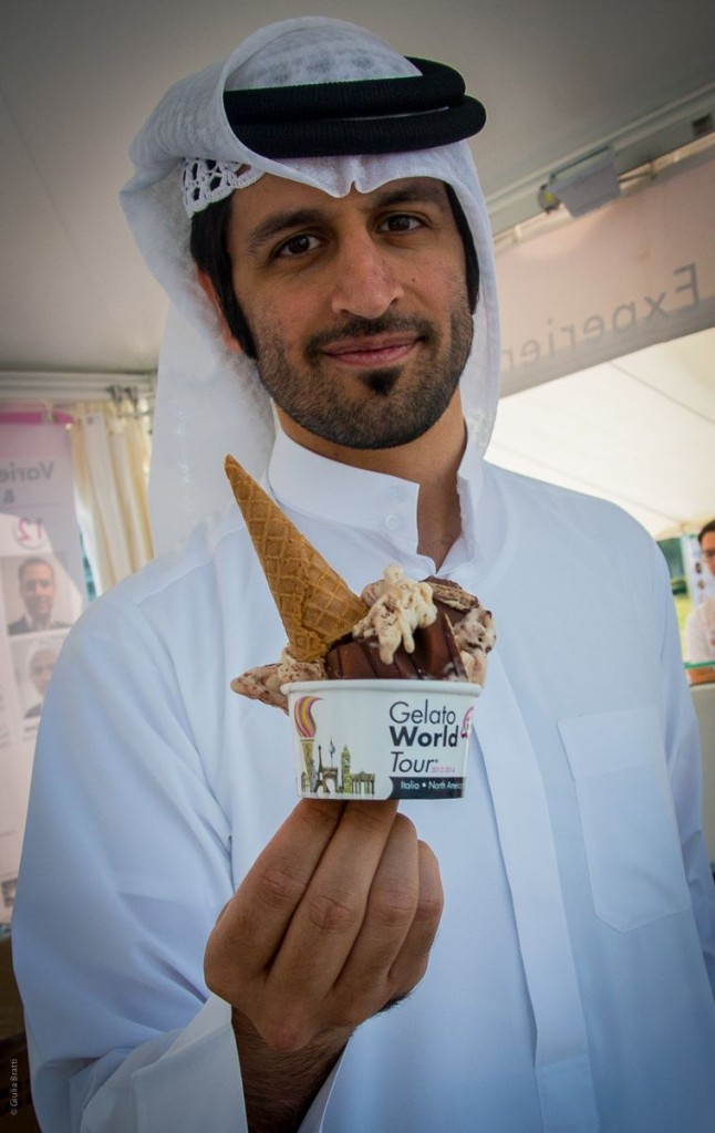 Ahmed Abdulati, of Dolci Desideri, Bahrain. | Photo: Dino Buffagni, Gelato World Tour
