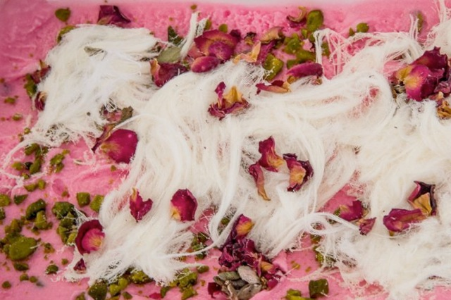 Bahrani Rose gelato, from Dolci Desideri, Bahrain. | Photo: Dino Buffagni, Gelato World Tour