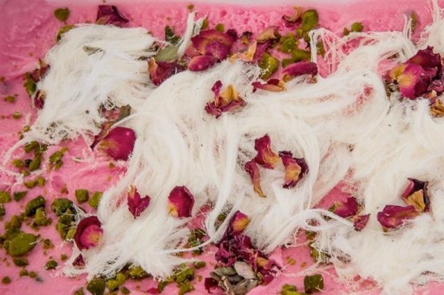 Bahrani Rose gelato, from Dolci Desideri, Bahrain. | Photo: Dino Buffagni, Gelato World Tour