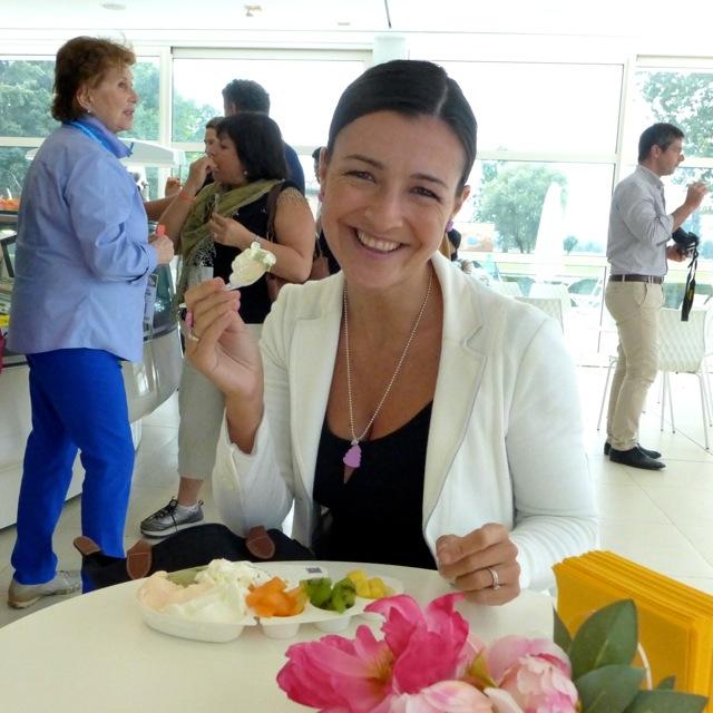 Valentina Righi having lunch at the Carpigiani Gelato University lab. | Photo: Julia della Croce