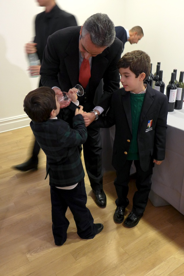 The fifth generation, Allegra's sons, learning about the art at papa's knee.