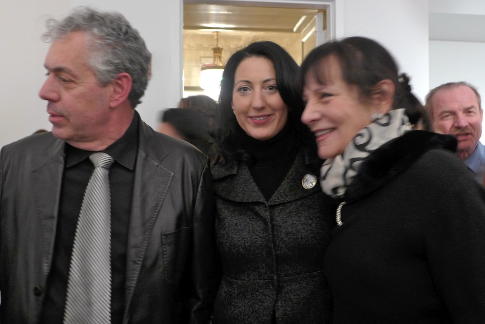 Lou, Vincenza Kelly of the Italian Trade Commission, and me.