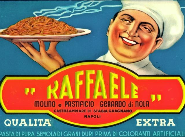 Vintage pasta ad c. 1950. Courtesy: Gerardo di Nola Pastificio