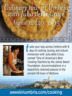 cooking with Julia della Croce in Umbria - august 2015