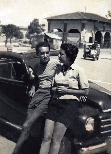 Victor and Marcella Hazan on their first date in Cesenatico, Emilia-Romagna. Courtesy of Victor Hazan.