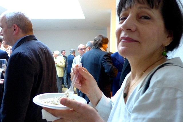 Eating Risotteria Melotti's risotto with truffles and porcini and having my photo taken at the same time.