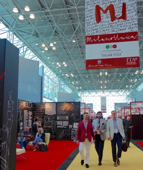 Italy's fashion artisans showcase their work at Milan Unica, Javits Center, NYC.