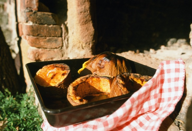 Roast pumpkin, once popular street food hawked on the piazzas of Venice.