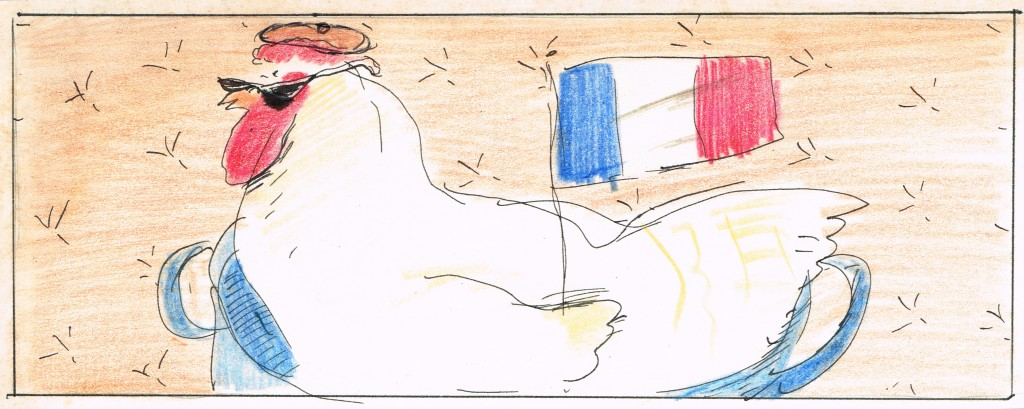 French chicken illustration 4